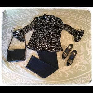 Essentials by Milano Polka-Dot Top.